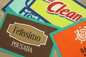 Capacho com Logo e Bordas
