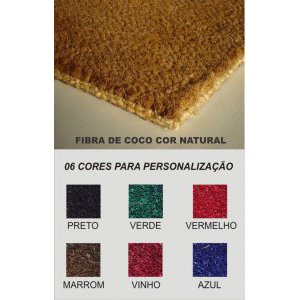 Tabela de cores Fibra de coco